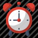 alarm, clock, school, time