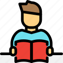 education, reading, school, student, study icon