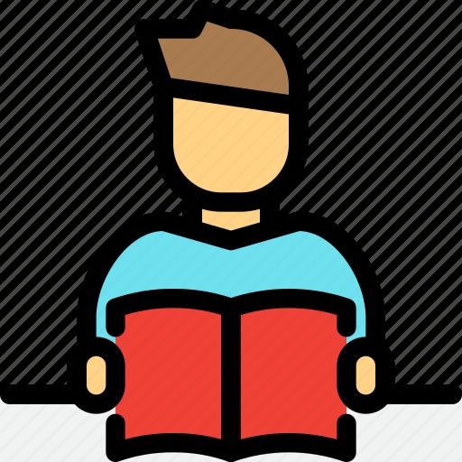 education, reading, school, student, study icon