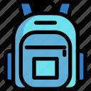 bag, education, object, school icon