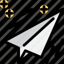 airplane, education, paper, school icon
