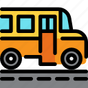 bus, car, education, school icon