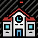 building, city, education, school icon