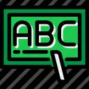 alphabet, education, school, study, writing icon