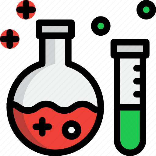 education, experiment, school, science, tube icon