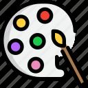 art, color, education, palette, school icon