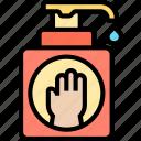 hand, sanitizer, pump, washing, hygiene