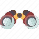 binoculars, view, observation, explore, discovery