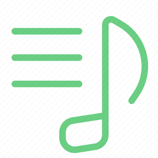 audio, library, list, menu, music, note, playlist icon