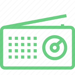 audio, music, player, radio, retro, sound icon