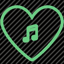 audio, enjoy, favorite, heart, like, love, music icon