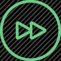 audio, forward, music, next, player, rewind, video icon