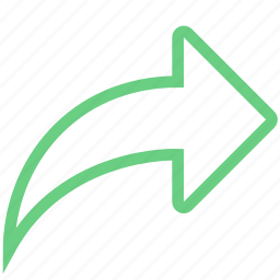 arrow, forward, next, pointer icon