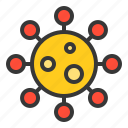 aid, bacteria, disease, hiv, lab, micro organism, virus icon