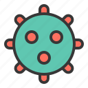 bacteria, cell, disease, lab, micro organism, virus icon