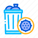 bacteria, infection, trash icon