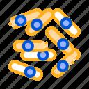 bacterium, microscopic, sticks icon