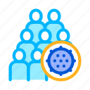 bacteria, germ, people icon
