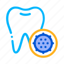 bacteria, germ, tooth icon