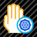 bacteria, germ, hand icon