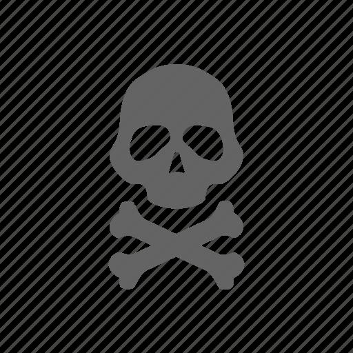 bone, danger, death, head, human, scull, warning icon