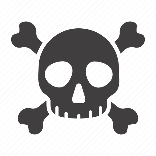Crossbones, danger, death, poison, skeleton, skull, toxic icon - Download on Iconfinder