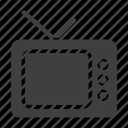 display, media, television, tv, tv-set, watch icon