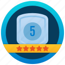winner shield, shield award, ribbon shield, five stars, star shield icon