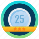 achievement, marker, token, badge, stamp, medallion, reward icon