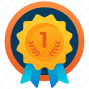 award, winner award, first position, first award, first badge icon
