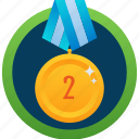 bronze medal, medal achievement, gold medal, second medal, numbering medal icon