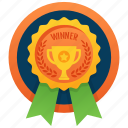 achievement, marker, token, stamp, winner badge, medallion, reward icon