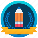 achievement, marker, token, stamp, education badge, medallion, reward icon