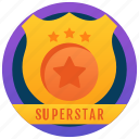 achievement, marker, token, superstar badge, stamp, medallion, reward icon