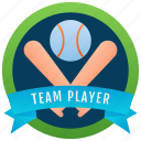 winner badge, award, team player badge, sports badge, fabric badge icon