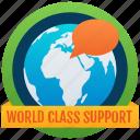 world support badge, achievement, marker, token, stamp, medallion, reward