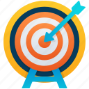 archery, archery bow, bow and arrow, dart board, target board icon