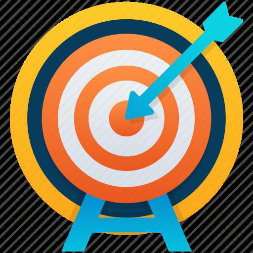 archery, archery bow, bow and arrow, dart board, target board icon