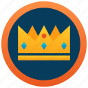 crown, golden crown, prince crown, ruby crown, ornamented crown icon