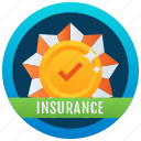 quality insurance badge, achievement, marker, token, stamp, medallion, guarantee reward icon