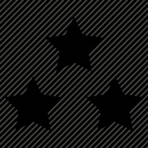 badges, stars, three, votes icon