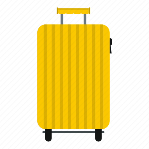 airport, baggage, booking, destination, handle, road, suitcase on wheels icon