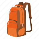 backpack, backpacking, bag, cartoon, equipment, hiking, travel