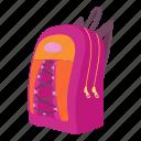 backpack, bag, baggage, cartoon, education, luggage, school