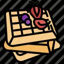 sweet, waffles, dessert, food, restaurant, bakery