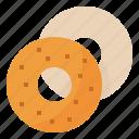bagel, bake, beigel, food icon