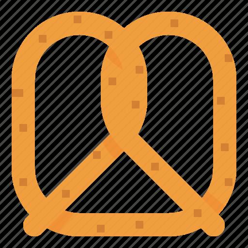 bake, bread, dough, pretzel icon