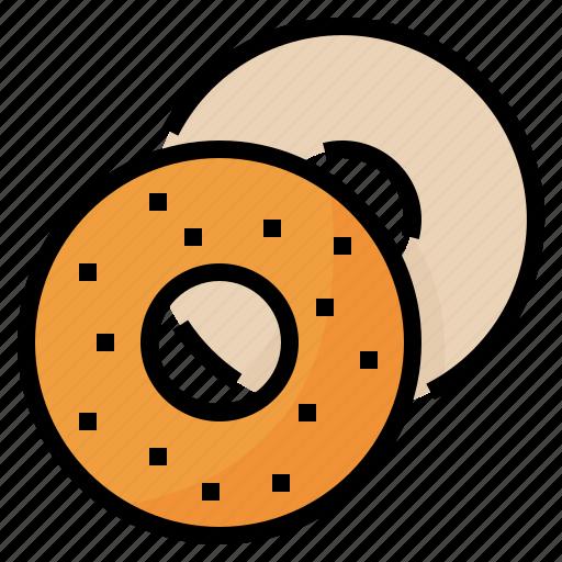 Bagel, bake, beigel, food icon - Download on Iconfinder