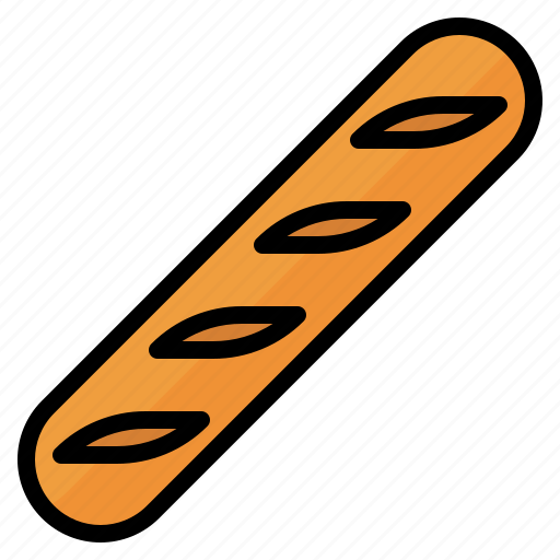 Baguette, bake, food, wheat icon - Download on Iconfinder