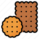 bake, biscuits, crackers, food icon